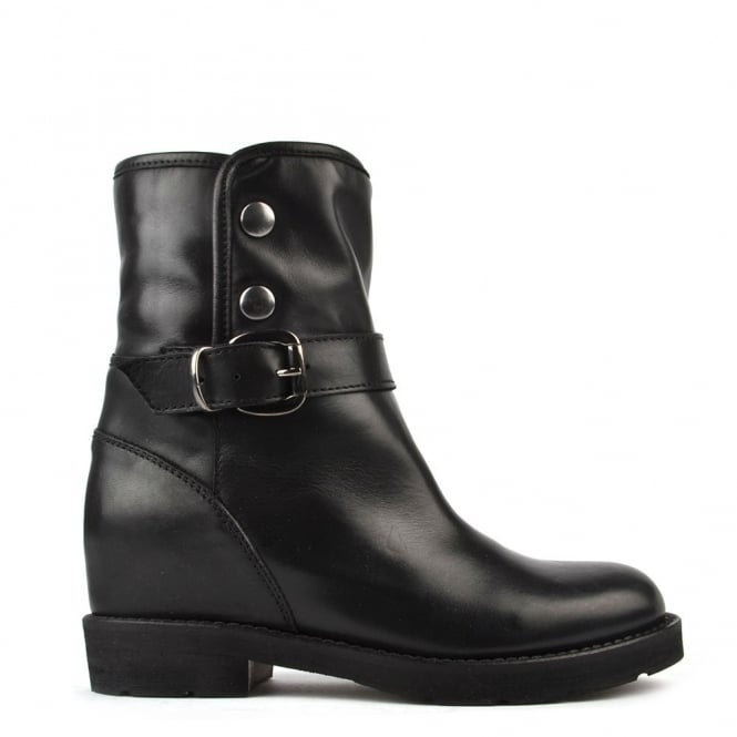 Elia B Shoes Husky Black Shearling Ankle Boot