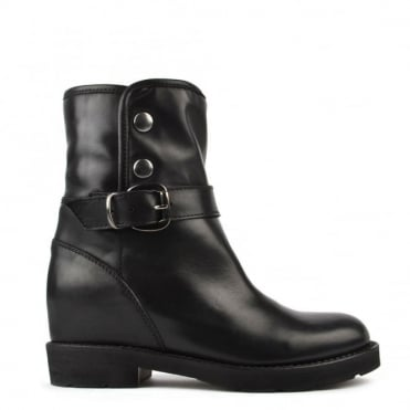 Husky Black Shearling Ankle Boot