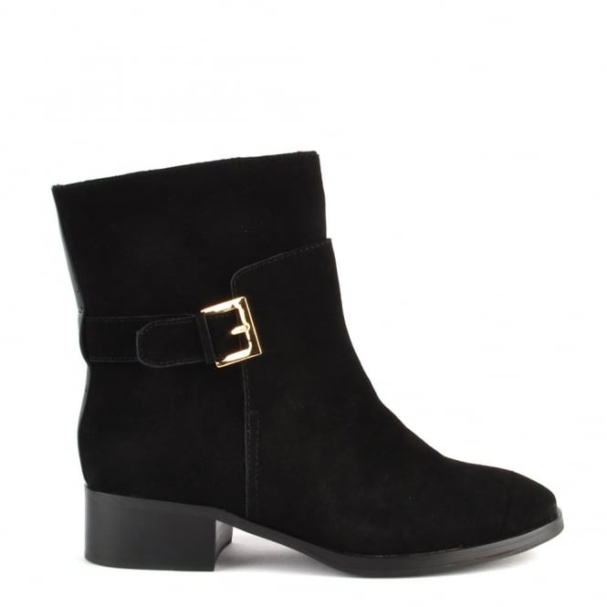 Elia B Shoes Lucy Black Suede Ankle Boot