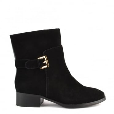 Lucy Black Suede Ankle Boot