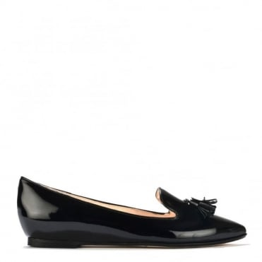 My Point Black Tassel Slipper