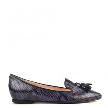 My Point Navy Python Pointed Slipper