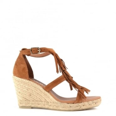 Nolony Brown Wedge Sandal