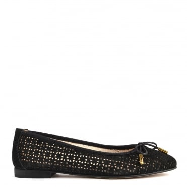 Nugget Black Cut Out Ballet Flat