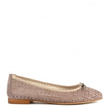Nugget Taupe Cut Out Ballet Flat