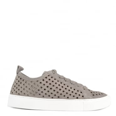 Otis Marble Suede Star Cut Out Trainer