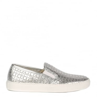 Polo Silver Perforated Slip On Trainer