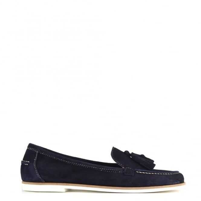 Elia B Shoes Prima Navy Suede Loafer