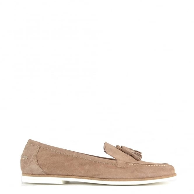 Elia B Shoes Prima Taupe Suede Loafer