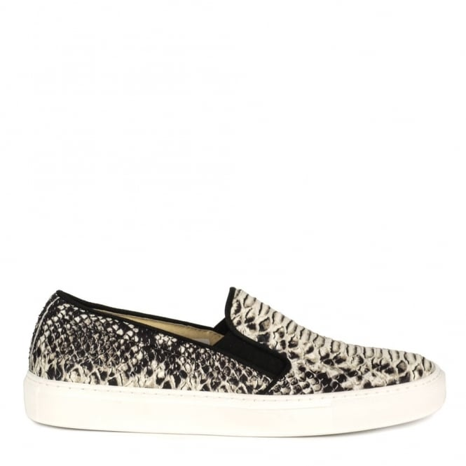 Elia B Shoes Pukka Python Slip On Trainer