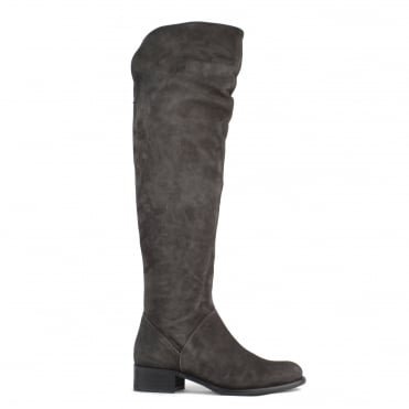 Pussycat Anthracite Suede Knee Boot