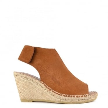 Quai Brown Suede Wedge Sandal