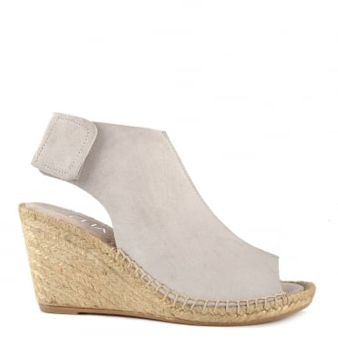 Quai Bruma 'Grey' Suede Wedge Sandal