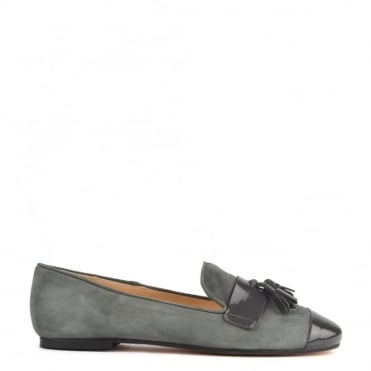 Rome Grey Suede Tassel Loafer