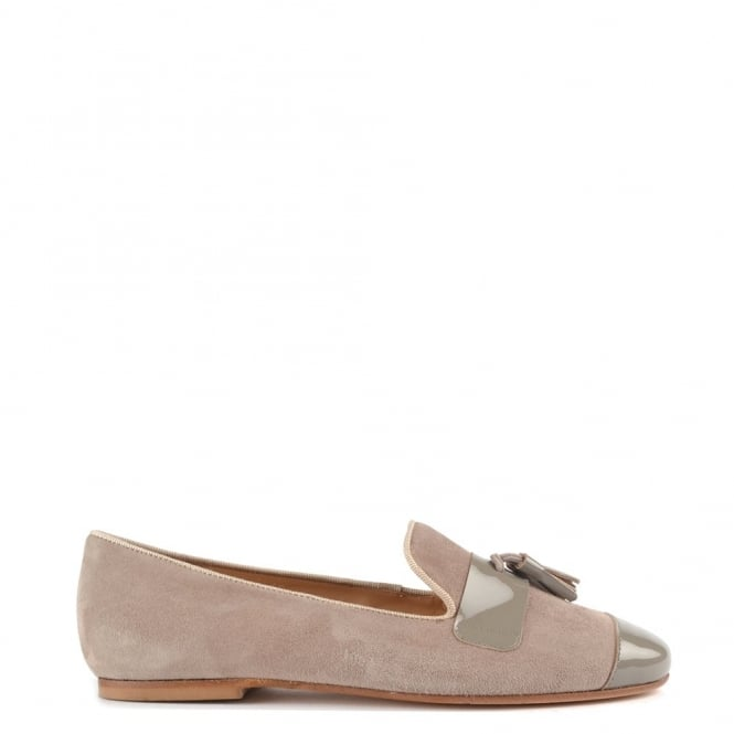 Elia B Shoes Rome Taupe Suede Tassel Loafer