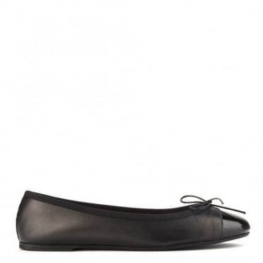 Sandra Black Leather Ballet Flat