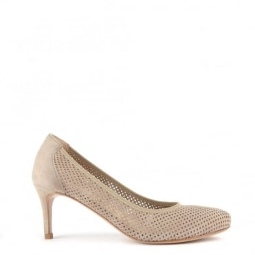 Sheri Taupe Suede Heeled Pump