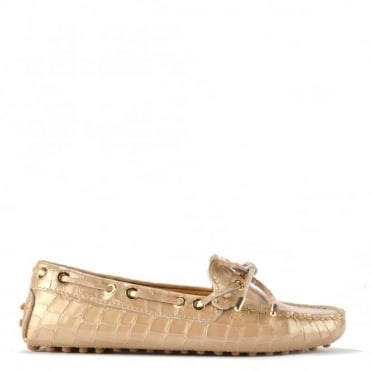 Softy Beige Croc Print Loafer