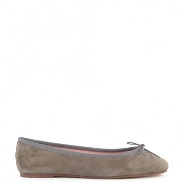 Stefania Taupe Suede Ballet Flat
