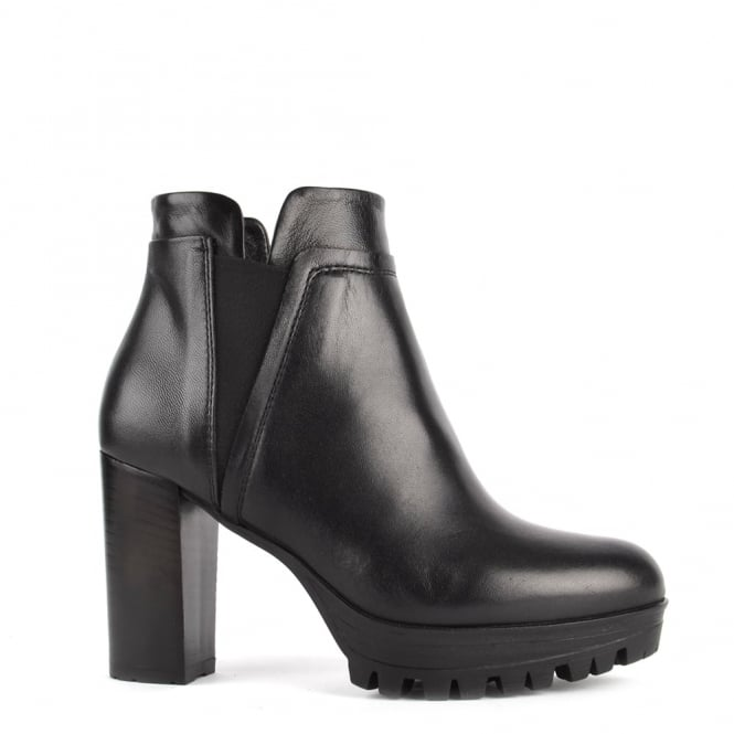 Elia B Shoes Urban Chic Black Leather Heeled Boot