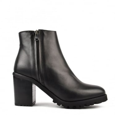 Urban Life Black Heeled Ankle Boot