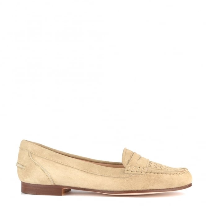 Elia B Shoes Weave Beige Suede Loafer