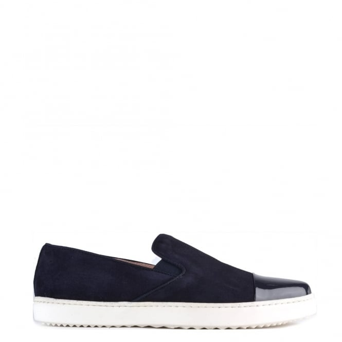 Elia B Shoes Wow Navy Suede Slip On Trainer