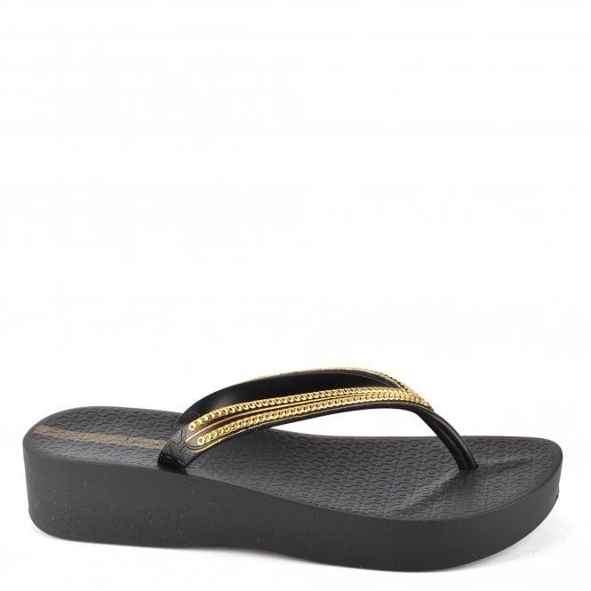 d74db3988 Ipanema Black Mesh Wedge Flip Flop - Women from Brand Boudoir UK