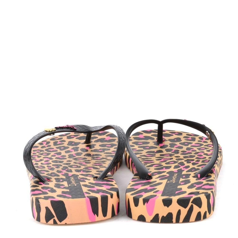 Ipanema Leopard Print Tan Flip Flop 38 Leopard