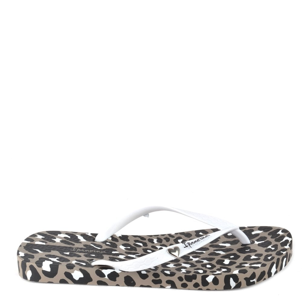 733927b6e Ipanema Leopard Print Taupe Flip Flop - Women from Brand Boudoir UK