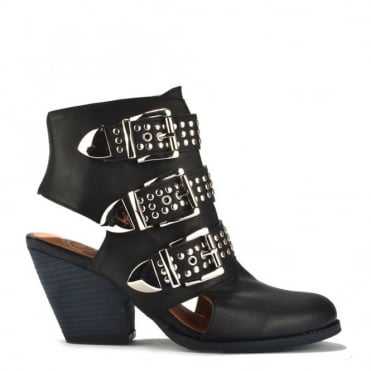 Colburn Studded Buckle Ankle Boot