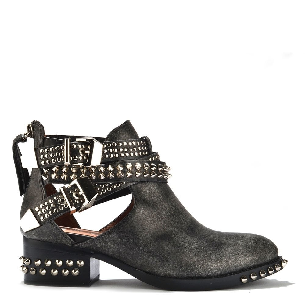 jeffrey campbell everly spike and studded cut out ankle. Black Bedroom Furniture Sets. Home Design Ideas
