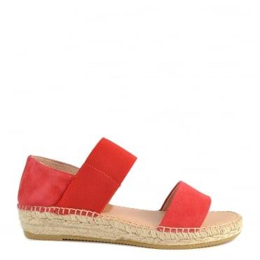 4e66a47a070 Ada Red Suede Flat Sandal