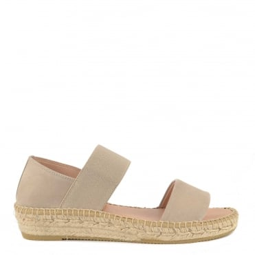 Ada Taupe Suede Flat Sandal
