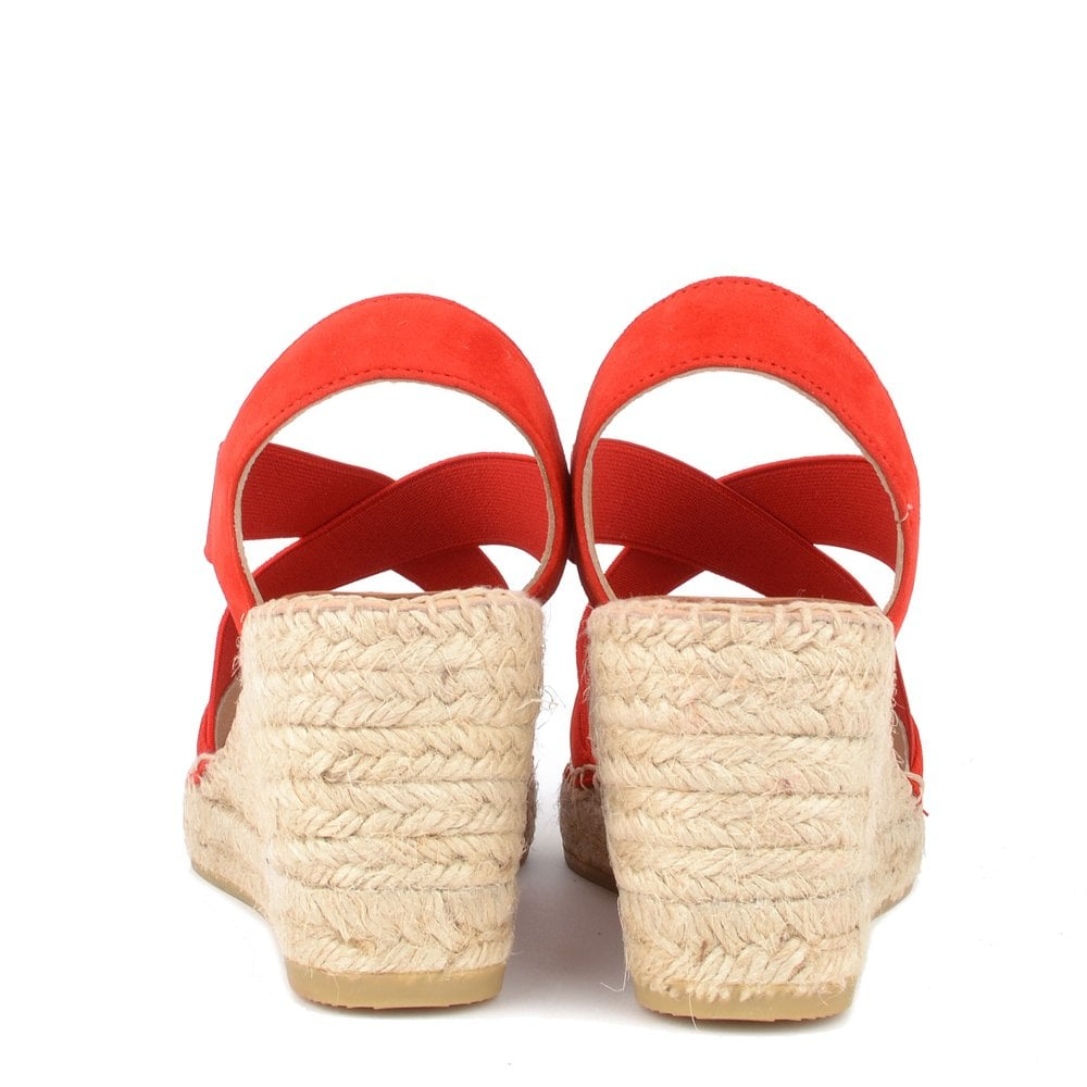 23c524d07fe Ania Red Suede Wedge Espadrille Sandal