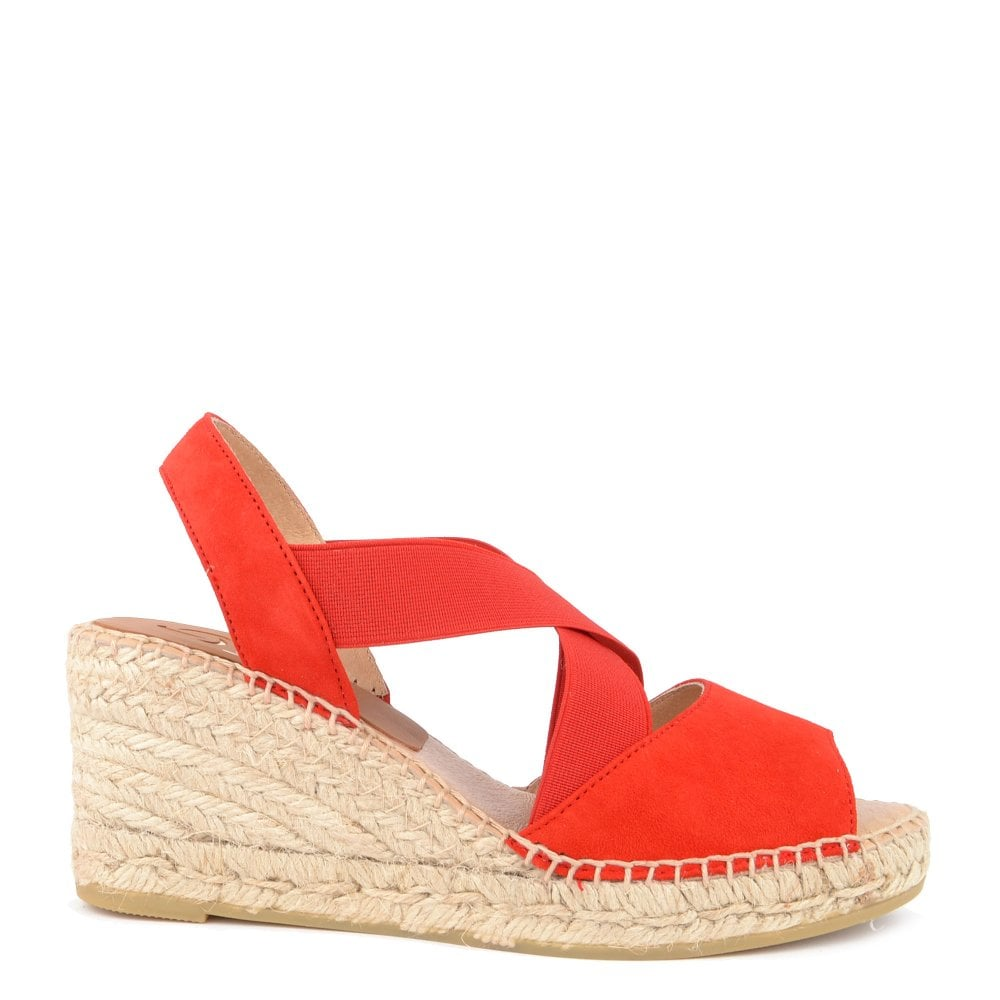 nice cheap buy online famous brand Ania Red Suede Wedge Espadrille Sandal
