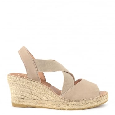 Basic Taupe Wedge Espadrille Sandal