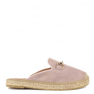 Dora Dusty Pink Suede Espadrille Slipper