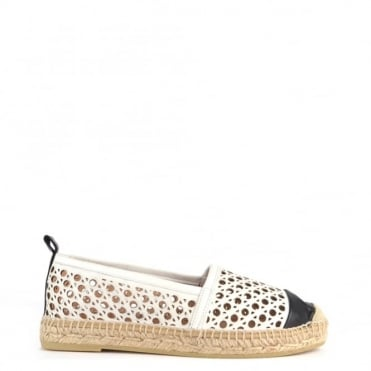 Dora Off White Laser Cut Espadrille