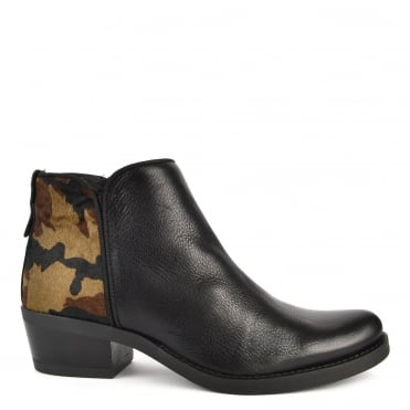 Kelly Black and Camouflage Boot