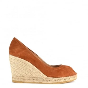 Lety Brown Wedge Espadrille Pump