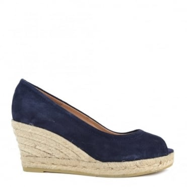 Luna Blue Wedge Espadrille Pump
