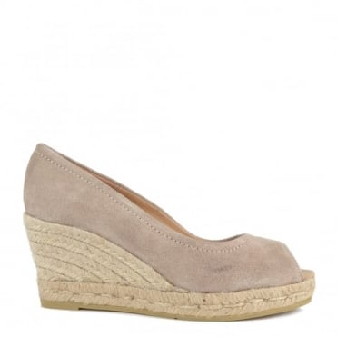Luna Taupe Wedge Espadrille Pump