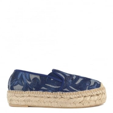 Path Blue Sequin Espadrille