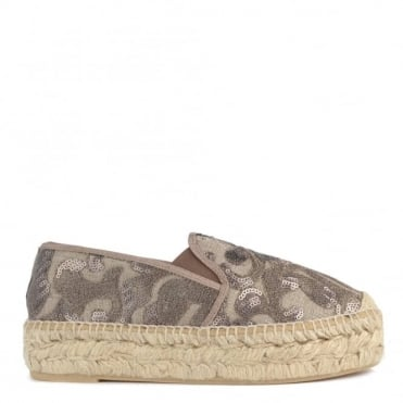 Path Taupe Sequin Espadrille