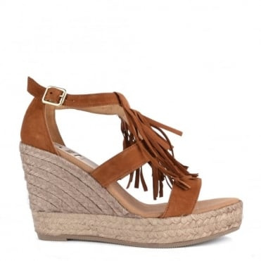 Viena Brown Wedge Sandal