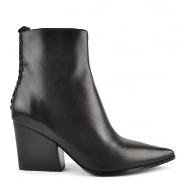 Felix Black Leather Ankle Boot