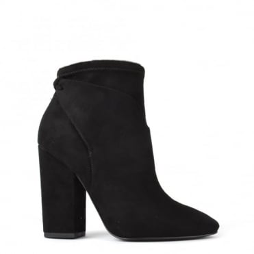Zola Black Suede Ankle Boot