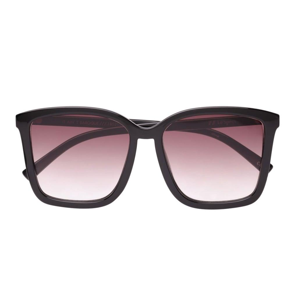 8fde261712 Le Specs It Ain t Baroque Black Square Frame Sunglasses