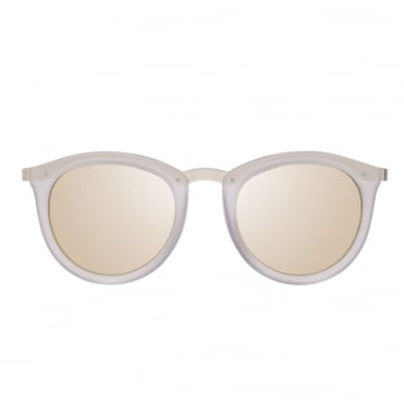 No Smirking Mist Round Frame Sunglasses